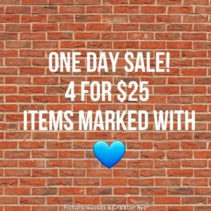 💙FLASH SALE!!!!!! All Blue Heart Items💙